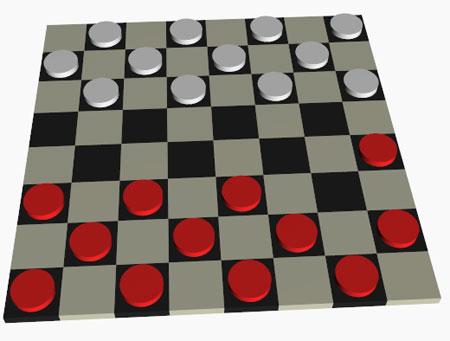 3D игра шашки